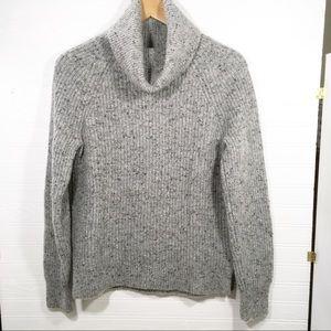 J. Crew Mercantile womens chunky-knit grey sweater